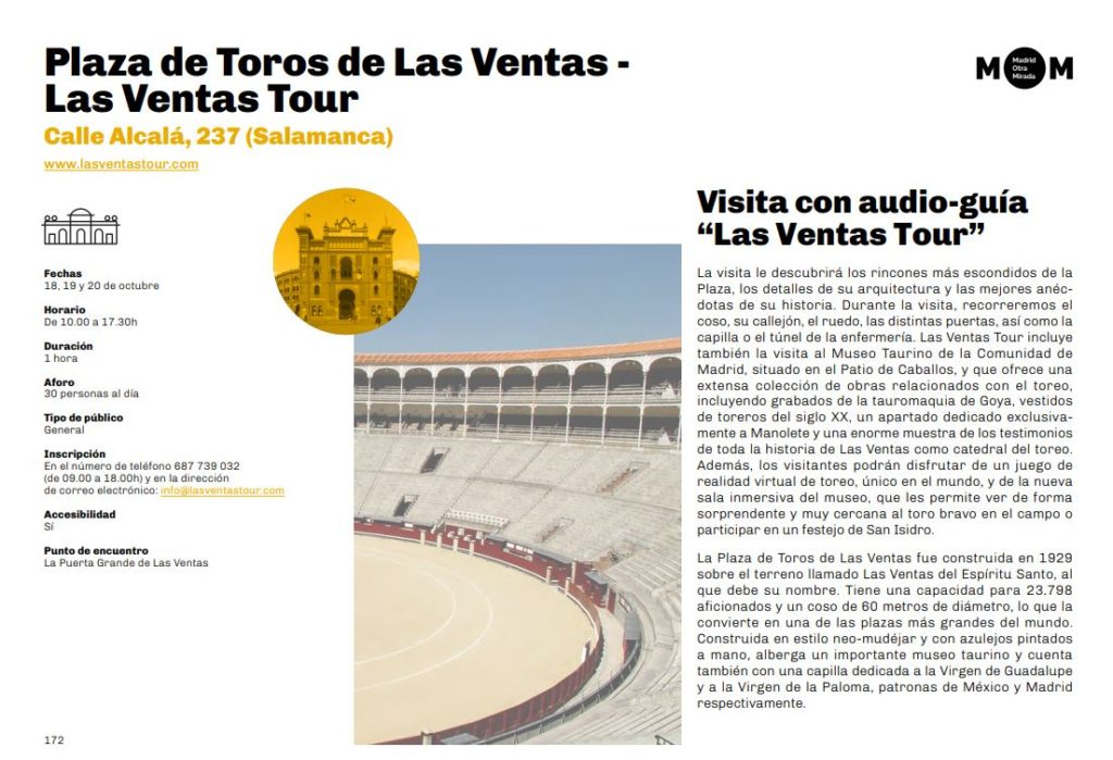 Las Ventas Tour en MOM 2019